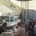 Pranzo con vista sulla piazza
