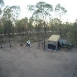 Drone shot of unpowered campground