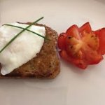 Breakfast: poached egg