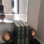 Dickens Room is equipped with Dickens books