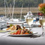 Fine dining with water views at the Sass restuarant and the Kermandie Waterfront Hotel