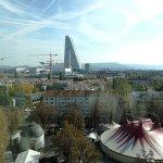 Vue sur la tour Roche et parc