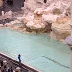 While having breakfast could observe the money being taken out of Fontana di Trevi
