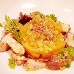 Plat végétarien: tarte de butternut aux cèpes