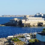 Edge Dinning & view over to Valletta