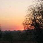 Sunset over the Rietvlei Nature Reserve