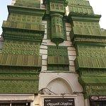 the green ancient facade