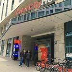 Entrance to hotel, very close to Berlin main train station