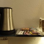Hot drink facilities in room.