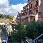 Looking towards swimming pool terrace