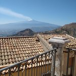 View of Etna from Castelmola (5 mins walk from hotel)