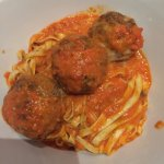 Fresh hand made linguine and meatballs