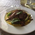 Not an everyday meal: Risotto of calf cheek, asparagus & duck heart ..
