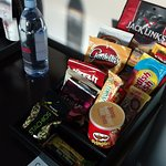 Great selection of snacks & beverages.