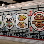 Mural at the Belmont L station.