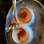 Custard in eggshells