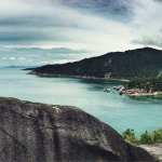 The scenery from the view point above why nam beach