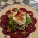 beetroot salad withe cheese herbs and every thing nice