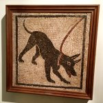 The Cave Canem mosaic from Pompei