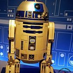 The original R2-D2 costume from the Star Wars movies
