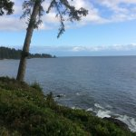 View of Juan de Fuca Strait from the deck
