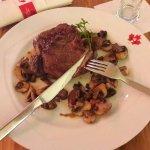 Steak with Mashroum