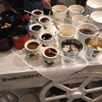 Jams and granolas for yogurt.