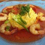 Crevettes et polenta crémeuse