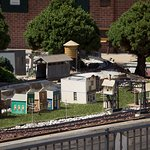 Part of the miniature railroad exhibit outside the main museum.