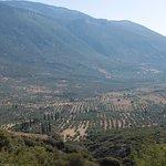 La vallée de la Phocide en contre bas du monastère