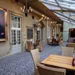 Dining area adjacent to the bar and outside the function room