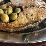 Amberjack with olives