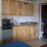 Kitchenette, room #120, Sundance Motel, Pinedale, WY
