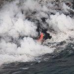 Lava falling into the Ocean