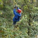 Zipping 450 feet