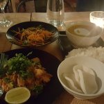 Pad Thai with chicken, curry with duck, Vietnamese salad