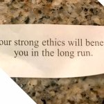Don't you just love the optimism of fortune cookies? They make me smile