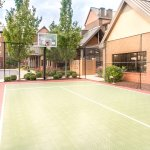 Enjoy our outdoor sport court, weather permitting.