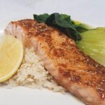 Weekend Special:  Teriyaki Salmon with organic, local Bok Choy