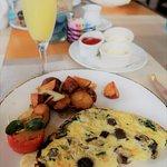 Breakfast at the Sea View (wild mushroom omelette)