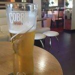 A good beer at the best restaurant. NAZMA