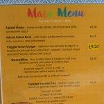Top of the menu -great.