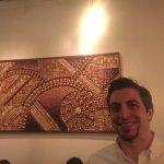 Brian and his cork board art