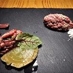 Chef Tasting Menu (duo of steak tartare)