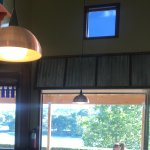 Inside dining view of Guadalupe river
