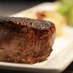 Filet Mignon Tournedos | rosemary Yukon potatoes | sweet and sour cipollini | red wine demi