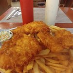 3pc Halibut, Fish and Chips - Heaven Is: