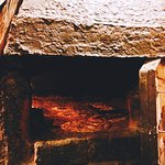 home made wood oven pizzas