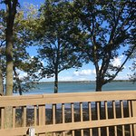 View from the yurt deck, looking over Lake Erie