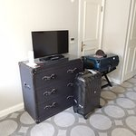 TV and interesting chest of drawers